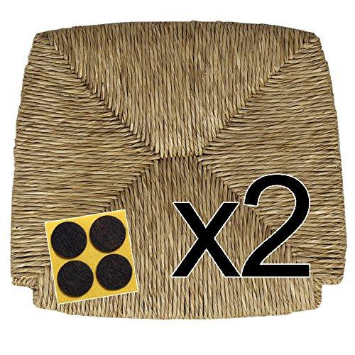 Arredasì fondino in paglia - ricambi per sedie (mod. 1212 zf) [set di due] + feltrini in omaggio