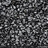 Steinteppich Marmorkies für 2qm | BEKATEQ BK-600EP Bodenbelag Bodenbeschichtung (25KG Marmorkies + 1,5KG Bindemittel, Schwarz - Nero Ebano)