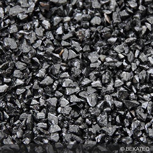 *BEKATEQ BK-600EP Steinteppich Set, Nero Ebano, Bodenbelag Marmorkies zur Bodenbeschichtung (25kg Marmorkies + 1,5kg Bindemittel)*