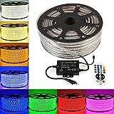 GreenSun LED Lighting 30M 5050 SMD RGB LED Streifen Strip mit 24 Tasten Fernbedienung RF Controller Lichter RadioFrequency 60 LEDs/M für Innen und Außen Wasserdicht IP68 Lichtband Flex Band