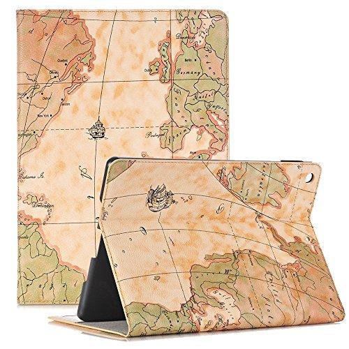 Smart Case für iPad Pro 12,9, elecfan ® Ultra Dünnen Leichtgewicht Book Stil Flip PU Leder Hülle Tasche Wasserdicht Case Smart Cover mit Ständer / Auto Schlaf Wach Funktion Anti Kratzer Schutzhülle für Apple iPad Pro 12,9 Zoll (iPad Pro 12.9,Gelb)