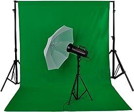 Neewer 6 x 9FT/1,8 x 2,8 M Fotostudio 100% reines Muslin Faltbare Hintergrund Grün