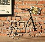 ZGCHJJ CYJZ® Retro Kreative Weinregal Europäischen - Stil Fahrräder Weinregal Home Wohnzimmer Dekorationen Kleine Einrichtungsgegenstände Stilvoll und schön (Farbe : #4)