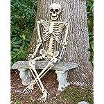 GOODS+GADGETS Deko Skelett 160 cm - Party & Halloween Dekoration Ganzkörper Horror Skeleton