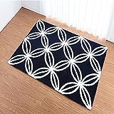 SX-ZZJ %Teppich Verdicken Super Soft Teppich Rechteckigen Teppich Wohnzimmer Schlafzimmer Teppich Waschbar GeometrischeTeppiche (Farbe : SCHWARZ, größe : 130 * 190cm)