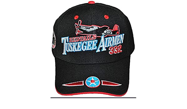 Tuskegee Airmen Red Tails cappello 332 ND Air Force Black storia Cap ... 598796e4f1b2