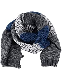 Bufanda Invierno de Punto de Moda - Bufanda Foulard Tejida Larga Grande de Cuello para Hombre Mujer Unisex