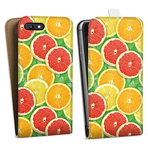 Apple iPhone X Silikon Hülle Case Schutzhülle Zitrone Sommer Trend Orange Downflip Tasche weiß