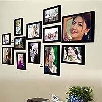 AG Crafts™ Wood Wall Photo Frame (Black, 12 Photos) (Black)