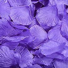 JUNGEN 1000Uds Pétalos de Rosa en Seda de Rosa Natural para Decoración Bodas Fiestas Confeti Tela Artificial Petalos De Rosa (Púrpura claro)