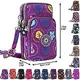 Wocharm Ladies Girls Nylon Design Small Crossbody Shoulder Bag Wristlet Handbags (Purple Mushroom)