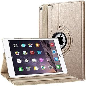 Housse en cuir pour iPad Air 2 avec rabat/stand de positionnement support et le sort de veille Matériel Extérieur---cuir PU synthétique résistant à l'usure, Vous n'aurez aucun soucis de rayures ni d'usures du cuir par accident. Intérieur---L...