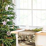 decomonkey Tischlaufer Vlies 150x50 cm | Tischdecke Weihnachten | Einmal Tischtuch-Rolle | Einweg Tischdekoration | Weihnachtszeit Tischband 50 breit XXL