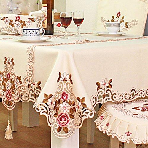 HLLQ Tischdecke European Pastoral Polyester (Tisch, Esstisch, Stühle) Lace Edge,Lace,80*130