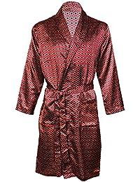 Octave ® luxe pour homme Imprimé Wrap Summer Robe Satin/Peignoir Kimono
