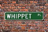 Aersing Funny Metall Schilder Whippet Whippet Lover Schild Geschenk für Hund Inhaber Freund Garage Home Yard Zaun Auffahrt Street Decor