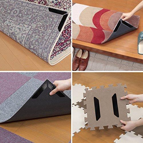 Specool griffe tappeto, 8 pezzi tappeto anti arricciatura nero dispositivo antiscivolo a scorrimento - alternativa ideale per tappetino, nastro per moquette e nastro per tappeti per pavimenti duri