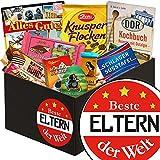 Beste Eltern der Welt | Schokolade Box | Geschenkbox Beste Eltern der Welt | Präsentkorb Schokolade | Geschenk für Eltern zum Hochzeitstag | inkl. DDR Kochbuch