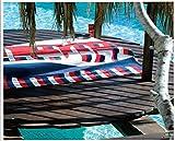 Sport Badetuch Pool Maestrale Bassetti Handtuch Groß 180x 90cm Frottee von Weich Baumwolle Col. Blau Rot