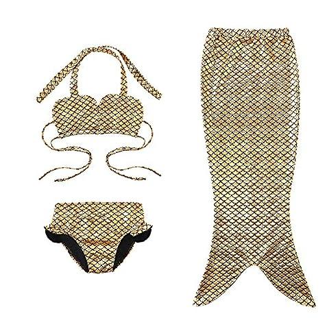 Mermaid Costume - 3 Pièces Queue de Sirène Maillot de