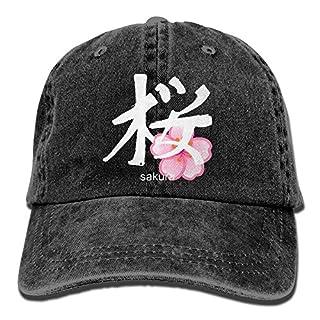 2018 Adult Fashion Cotton Denim Baseball Cap Japanese Sakura Kanji Classic Dad Hat Adjustable Plain Cap