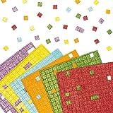 Glitzernde Mosaik-Quadrate aus Schaumstoff zum Basteln und Aufkleben für Kinder (1980 Stück)