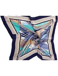 Nella-Mode schickes & elegantes SEIDENTUCH in attraktiven Farben und modernem Design, 82x82 cm