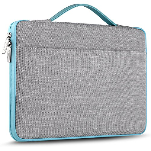"Zinz 15,6 Zoll Aktentasche Laptoptasche Hülle, Stoßfeste Wasserdicht Notebook Sleeve kompatibel mit 15-15,6"" HP/Dell/ASUS/Acer/ThinkPad/Samsung/Toshiba Chromebook UltraBook Tablet, Grau"
