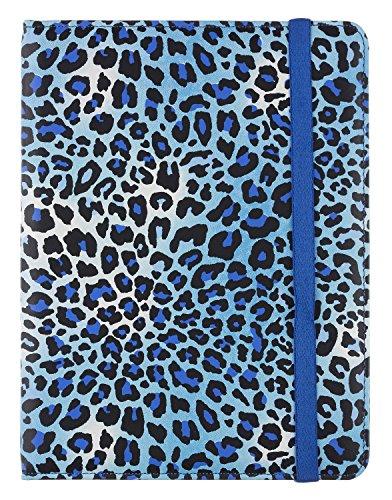 Ipad Case Animal-print (Trendz Universal Folio Hülle Case Cover mit integrierter Ständer-Funktion und Gummiband Verschluss für 7 Zoll (17,8cm) Tablets Kompatibel mit iPad Mini, Google Nexus 7, Samsung Galaxy Tab 3 7.0, Kindle Fire HD 7 Zoll und Tesco Hudl -  Animal Print Blau)