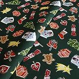 Hans-Textil-Shop Stoff Meterware Weihnachts-Geschenke auf
