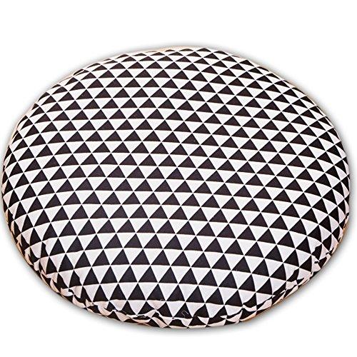 WLG Futon aus Baumwolle und Leinen, Kissen, Dicke Baumwoll-Leinen-Kunst, Teezeremonie, Japanisches Tatami-Kissen,Dreieck,70X70