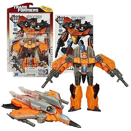 Hasbro Year 2014 Transformers Generations Thrilling 30 Series Deluxe Class 5-1/2 Inch Tall Robot Action Figure #018 - Decepticon Jhiaxus with 2 Blaster Rifles (Vehicle Mode: Fighter Jet) by Transformers (Jet-blaster)