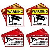 DEDC Pack de 20Pcs Cartel Zona Videovigilada Interior Exterior Placa Disuasorio PVC Expandido Pegatina Señal Videovigilada Seguridad