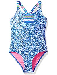 Limited Too Girls' Pailsley/Aztec Mix 1pc Swim