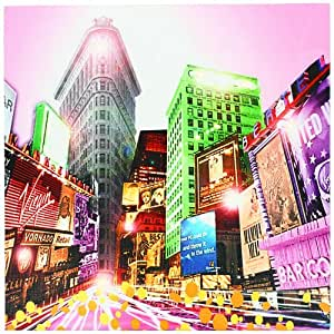 Tableau toile lumineuse led times square new york avenue pop art cuisine maison - Toile led new york ...