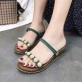 WHL Shoes Onorevoli Sandali Fashion Rampa Con Rugiada Asolato-Perla Comfort Estivo E Versatile Verde 37