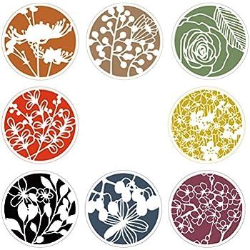 Healifty Fleurs Peinture Modèles 8 Pcs Réutilisable Creuser