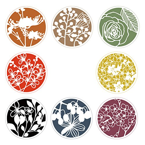 HEALIFTY Stencil riutilizzabile, motivo floreale, 8 pezzi