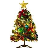 Kylewo Árbol de Navidad Artificial 50 cm Árbol de Navidad Artificial Mini LED Luces de Navidad Árbol de Navidad Árbol de Abet