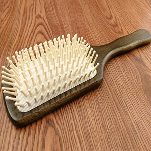 Hrph Wooden Combs Paddle Brush Wooden Hair Care Spa Massage Antistatic Comb For Women