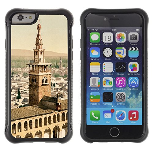 Graphic4You Chambord Castle France Postkarte Ansichtskarte Design Shockproof Anti-Rutsch Weichen Hülle Case Tasche Schutzhülle für Apple iPhone 6 Plus / 6S Plus Design #6