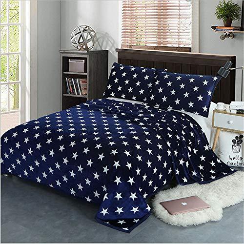 hhlwl Bettwäsche Set Twin Voll Königin King Size Kissenbezug Bettbezug Kinder/Erwachsene / Mädchen Bettlaken Bett Linie Zuhause Texile, 1.8M