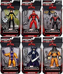 Ant-man Marvel Legends Giant Man, Grim Reaper, Wasp, Bulldozer, Ant Man, Tigershark Action Figures Wave 1 Set of 6 by Hasbro