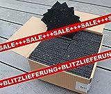 400 Stück Profi Terrassenpads 100 x 100 x 8mm, Balken Auflagepads, Unterkonstruktion, Bautenschutzmatte, Gummipad, Unterlage, Terrassenbau, WPC, BPC, Gummigranulat