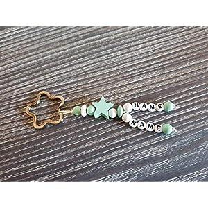 DeinSchwesterherz Schlüsselanhänger Namenskette/Namensanhänger mit 2 Namen in rosa/mintgrün/blau/lila oder schwarz, Anhänger für Wickeltasche, Schlüsselbund, Kindergarten oder Schultasche
