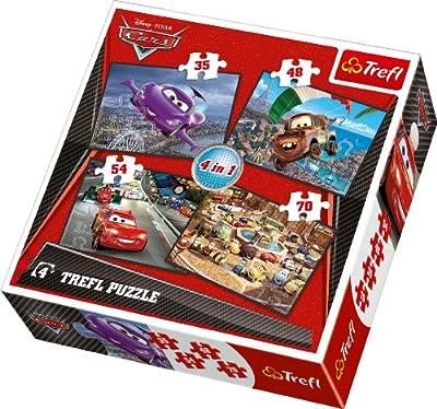 Puzzle 4w1 mix Auta 2 de Trefl