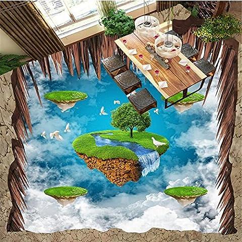 Lqwx 3D-Bodenbeläge Wandgemälde Antenne Suspension Insel Pigeon 3D-Stock Malerei Wohnzimmer Zimmer Badezimmer Stock Wallpaper-430 Cmx 300Cm