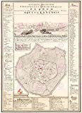 MAP ANTIQUE 1724 COUVEN DIOCESE AACHEN OLD LARGE REPLICA POSTER PRINT PAM0189