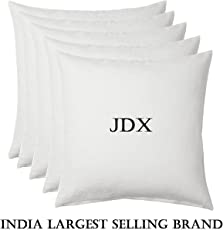 JDX Micro Fibre Silknise Cushion Filler (40X40cms, White) - Set of 5
