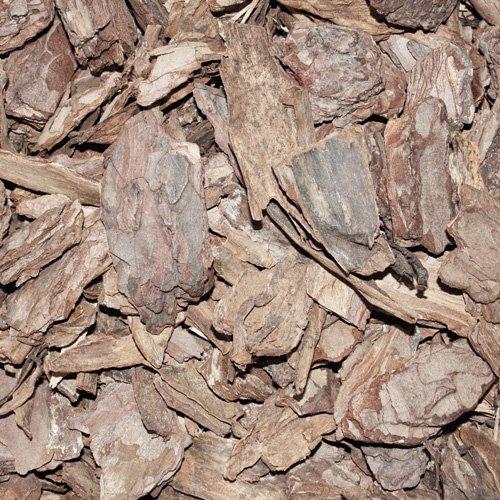 PALIGO Rindenmulch Mulch Garten Holz Dekor Rinde Borke Natur Pinus Sylvestris Wald Kiefer Grob 20-60mm 70l Sack / 1 Karton Galamio® (G30 Eisen)